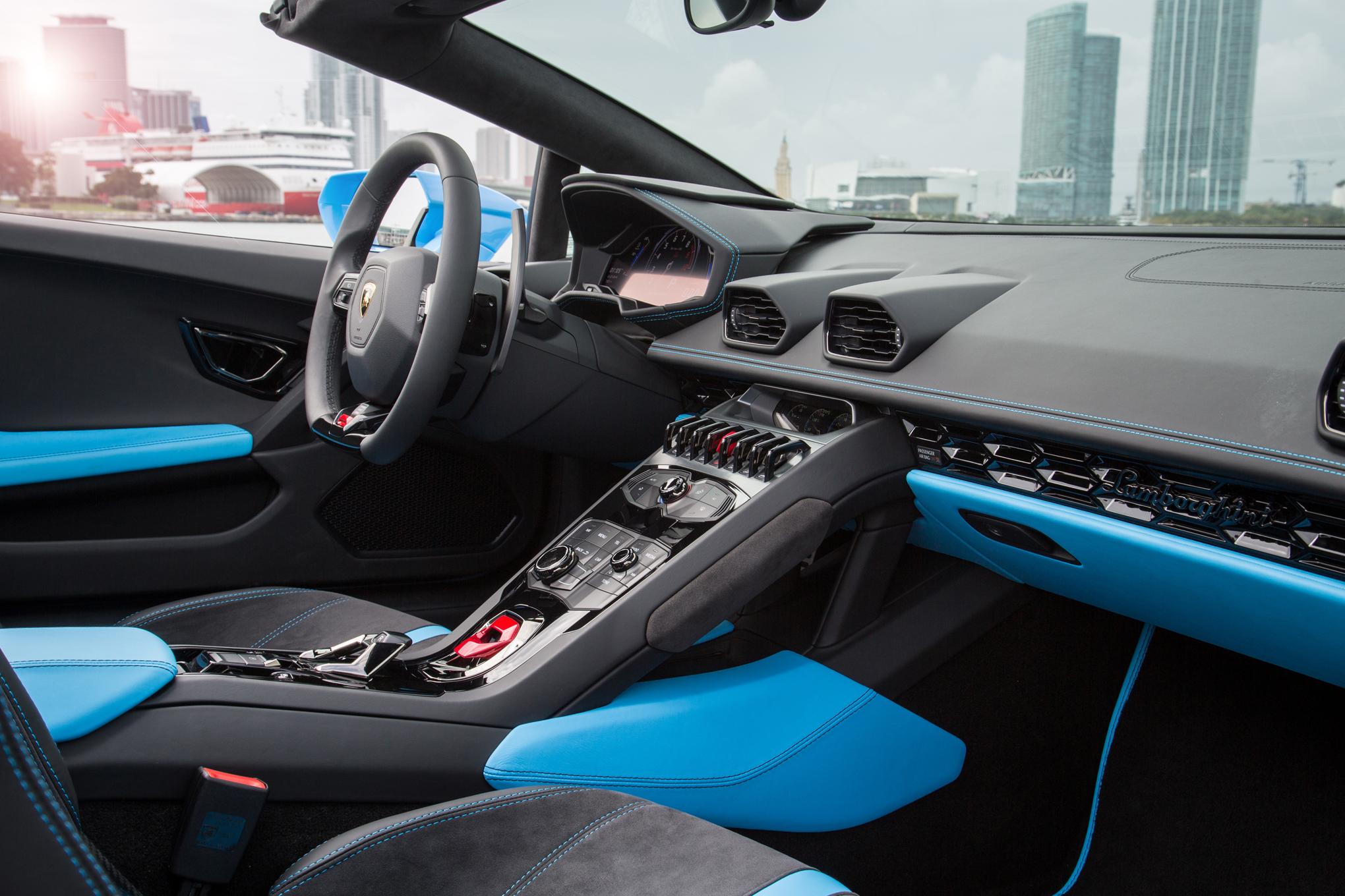 2016 Lamborghini Huracan Spyder Interior 92 Instant Luxury Rentals